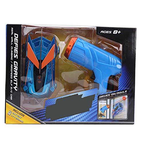 Vehículo de Coche RC, Sensor de luz de Seguimiento infrarrojo Coche de Carreras de Escalada en Las 4 Ruedas Coche de Carreras de Escalada con Control Remoto para niños Niños Niñas(Azul)