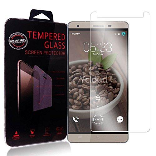 Ycloud Panzerglas Folie Schutzfolie Bildschirmschutzfolie für Cubot H2 screen protector mit Festigkeitgrad 9H, 0,26mm Ultra-Dünn, Abger&ete Kanten