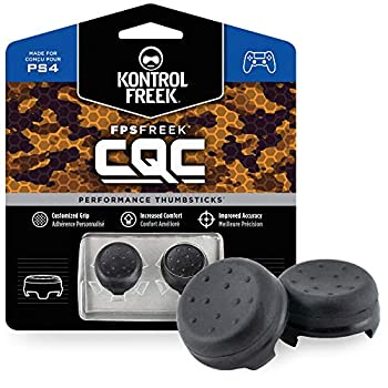 KontrolFreek FPS Freek CQC for Playstation 4  PS4  and Playstation 5  PS5  Controller | Performance Thumbsticks | 2 Mid-Rise Concave | Black
