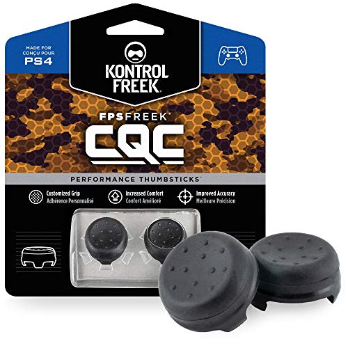 KontrolFreek FPS Freek CQC for Playstation 4 (PS4) and Playstation 5 (PS5) Controller   Performance Thumbsticks   2 Mid-Rise Concave   Black