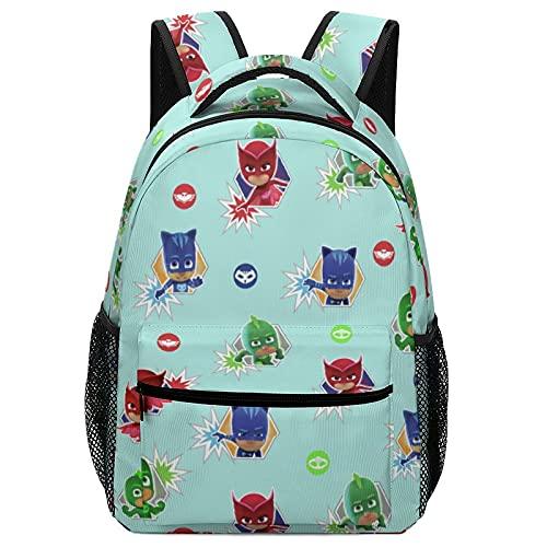 Sacs à dos pour enfants, cartables pour étudiants, sacs de voyage pour adolescents, motifs de dessins animés Pyjamasques avec poches latérales