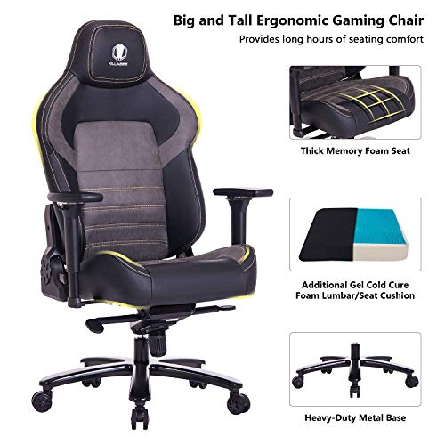 Killabee Big and Tall 440lb Memory Foam Gaming Chair