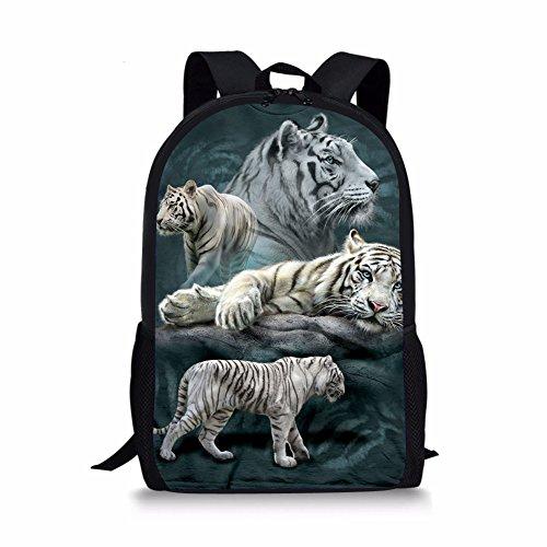 HUGS IDEA Cool 3D Animal - Mochila escolar para niños, tigre (Negro) - Y-W1695C