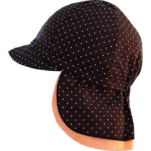 maximo Baby Mädchen Schildmütze mit Bindeband und Nackenschutz-43 - Kindermode : Baby - Mädchen