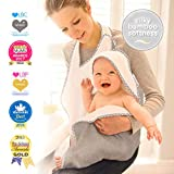 Baby Hands Free Serviette de bain - Gris doux avec grillage étoile grise