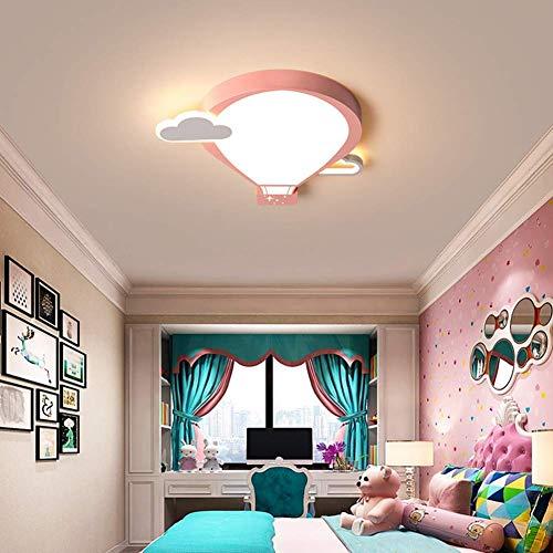 29W habitación de niños Lámpara de techo LED Regulable con control remoto Forma de globo aerostático moderno Diseño creativo dormitorio metal acrílico jardín de infancia Luz de techo L45 × W45cm
