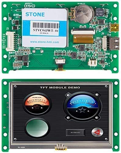 SCBRHMI 5,6 Zoll HMI Smart TFT LCD Display Modul mit Controller + Programm + Touch Monitor + UART Schnittstelle + Plastikrahmen