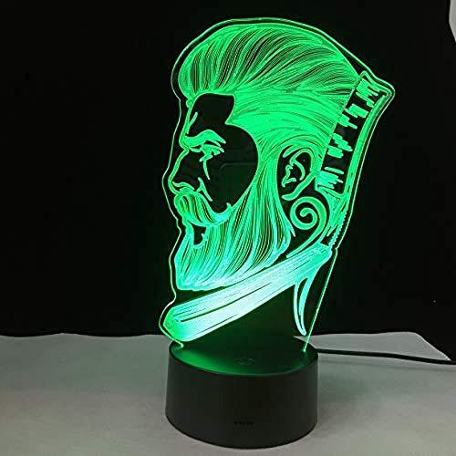 3D Illusion Light, Creative Beauty Salon Barberia Store Sign Barber Shop Zakelijk 3D Led-Nachtlampje Home Party Night Lamp Optische Tafellamp