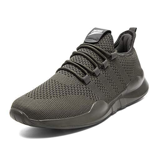 CAIQDM Zapatillas Hombre Running Deportivas Bambas Transpirable Tenis Deporte Zapatos Outdoor Casual Correr Gimnasio Sneakers