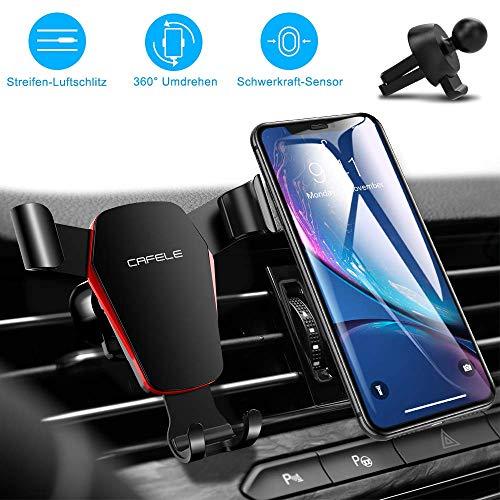 Handyhalterung Auto Schwerkraft, 4,5-6,5 Zoll, Handyhalter fürs Auto Lüftung, Universal Autohalterung Lüftung Lüftungsschlitz Belüftung KFZ Phone Halterung Handy Halter für Phone, Samsung, Smartphones