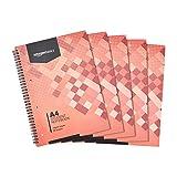 Amazon Basics - Cuaderno escolar, 160 hojas, tamaño A4, 70 gsm, 5 unidades