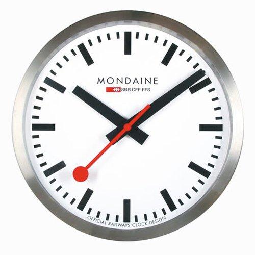Mondaine Officiële Zwitserse stationsklok, wandklok aluminium, ø 25cm