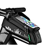 SanDoll 自転車バッグ 自転車トップチューブバッグ 自転車フレームバッグ 大容量 多機能 二重構造 防水 (25.5, 10.5)