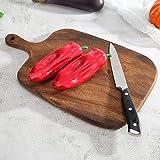 QIYIFANGZHI Cutting Board Tablas de Cortar Madera con Mango Espesar Bloque Que Taja de Verduras Carne Cortar el Pan de Cocina Herramientas Accesorios Safe (tamaño : C)