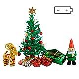 Lundby Weihnachtsdeko und Christbaum für Puppenhaus - 7-teilig - Weihnachtsbaum - Weihnachtsmann -...