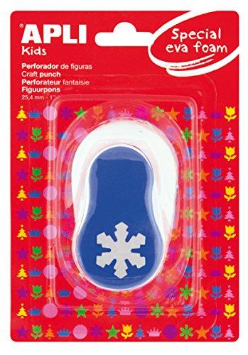 APLI Kids 13302 - Perforadora especial goma EVA copo nieve, 25.4 mm