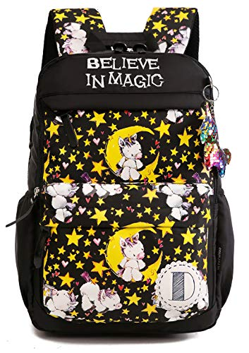 Debbieicy - Juego de mochila para niños de princesa, diseño de unicornio, para preescolar, guardería, primaria