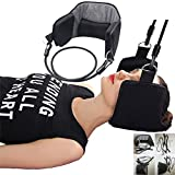 Grab Classy - The Neck Hammock Portable Cervical Traction Device for Neck Pain Relief and Physical Therapy (Black)