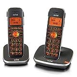 Switel D102 Vita Comfort, mobiles DECT Senioren-Telefon Set mit großen beleuchteten Tasten und...