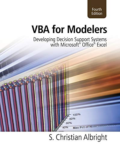 VBA for Modelers: Developing Decision Support Systems...