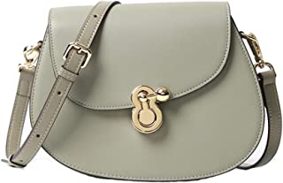 Fashion New Retro Casual Fashion Bills Shoulder Slung Small Handbag Female Cowhide Bag (Color : Green)