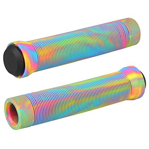 SHGUANMO Puños de Bicicleta Antideslizantes Stunt SCUNTER APISTRAS BMX ARPUTES Soft Bike ARTÍCULOS sobre HANDERBAR ARRENAJE ARRIBAS ANTILIPO DE Bicicleta Accesorios para Bicicletas (Color : Rainbow)