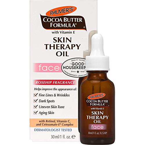 Palmer's Cocoa Butter Formula Moisturizing Skin Therapy Oil for Face with Vitamin E, Rosehip Fragrance, 1 Ounce