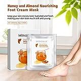 5 paia di MOND'SUB Miele & Mandorle Nutriente piedi maschere - del piede del bambino masch...