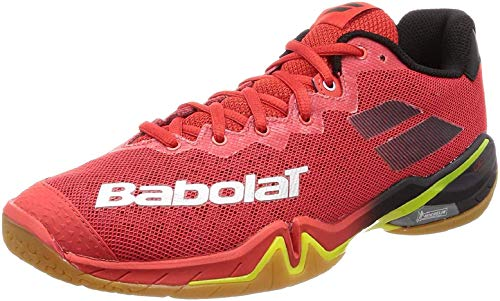 Babolat Herren Shadow Tour Men Badmintonschuhe, Rojo, 43 EU