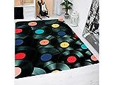 Oedim Alfombra Discos Vinilo PVC 95 cm x 165 cm| Moqueta Adulto PVC | Suelo vinilico para Adultos