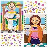 Baker Ross Kits Imágenes de Mosaicos Romanos AX126 (paquete de 4) para proyectos de arte y...