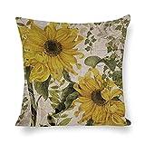 DKISEE Fundas de almohada decorativas de algodón y lino, fundas...