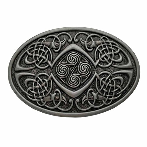 Celtic Knot Oval Belt Buckle Grey