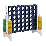 ECR4Kids Jumbo 4-to-Score Giant Game Set, Backyard Games for Kids, Indoor/Outdoor Connect-All-4, Adult and Family Fun Game, 43 Inches Tall, - Blue and Gold (Game Only)