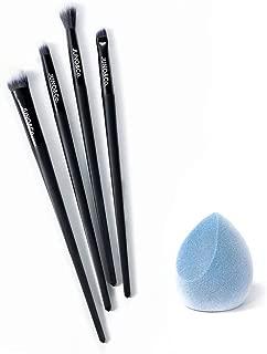 JUNO & Co. Microfiber Velvet Sponge, Latex-Free, Dual Layer Technology, Flawless Makeup Blender for Foundations, Powders and Creams (Velvet Sponge & Eye Brush Set)