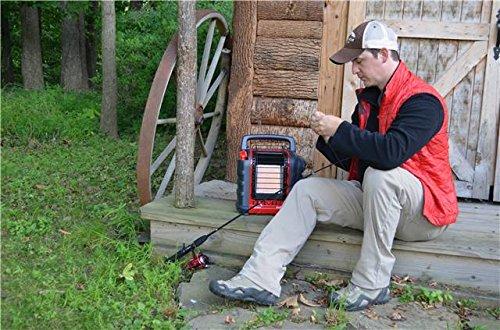 Mr. Heater Portable Buddy Gasheizung inkl. Adapter für Gaskartuschen mit 7/16-Gewinde; - 16