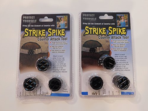 Strike Spike - Self-Defense/Counter Attack Tool - 2 PACK (6 SEPERATE SPIKES)