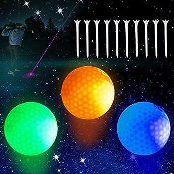 Led Golf Balls Flashing Glow in The Dark Golf Balls  3PACK