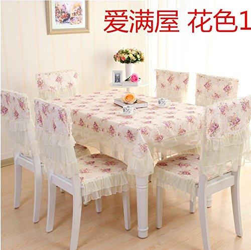 XINGYUNXING nappes pastorales de Dentelle, Tissu de Table, Linge de Table, Chaise Linge de Table Coussin, Couverture de Chaise,130 * 180CM