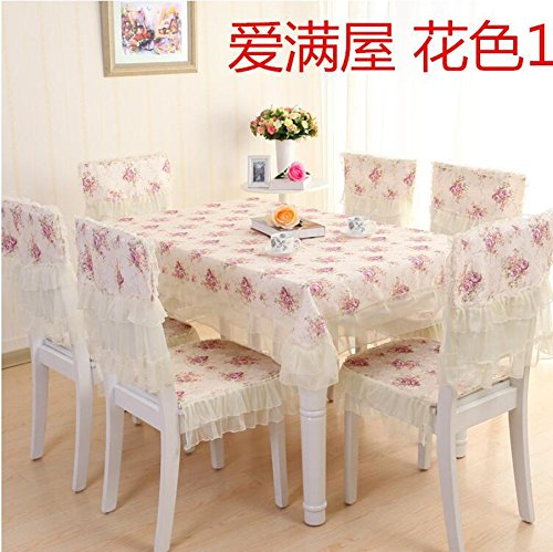 XINGYUNXING nappes pastorales de Dentelle, Tissu de Table, Linge de Table, Chaise Linge de Table Coussin, Couverture de Chaise,130 * 180CM