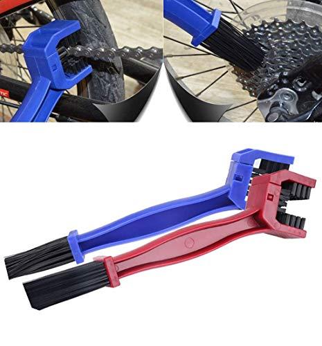 BTkviseQat Ketten Reinigungsbürste kettenbürste Sauberen Bürste zur Reinigung von Motorrad-, Fahrrad- oder Rollerketten 2pcs