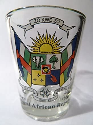 Central African Republic Coat Of Arms Shot Glass