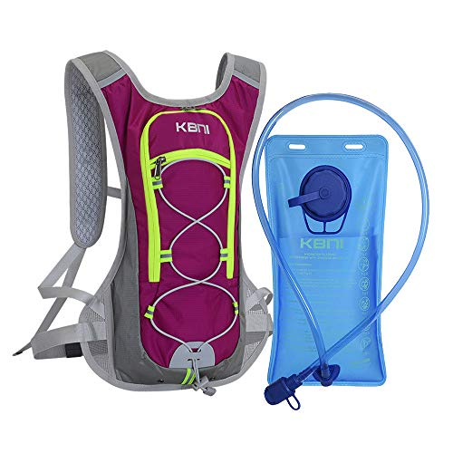 KBNI Hydration Backpack with 2 Litre 68 Ounce Water Bladder Lightweight Suitable for Outdoor Hiking Running Cycling Camping Climbing Sports Perfect for Men Women amp Kids