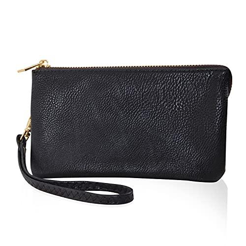Humble Chic Vegan Leather Wristlet Wallet Clutch Bag - Small Phone Purse Handbag for Women