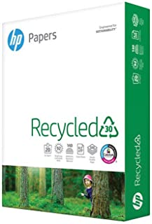 HP Printer Paper 8.5x11 Recycled30 20 lb 30% postconsumer recycled 1 Ream 500 Sheets 92 Bright Made in USA FSC Certified C...