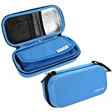 Cosmetic Travel Bag Insulin Pen Case Cooling Protector Bag Waterproof Portable Pouch Cooler Travel Diabetic Pocket, Built-in Temperature Display, FDA Certification(Blue)