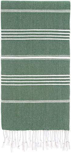 Captain&Mermaid® Premium XXL Strandtuch 100% Baumwolle | Badetuch | Picknickdecke | 220x160 | Peshtemal | leicht & extra groß (Emerald)