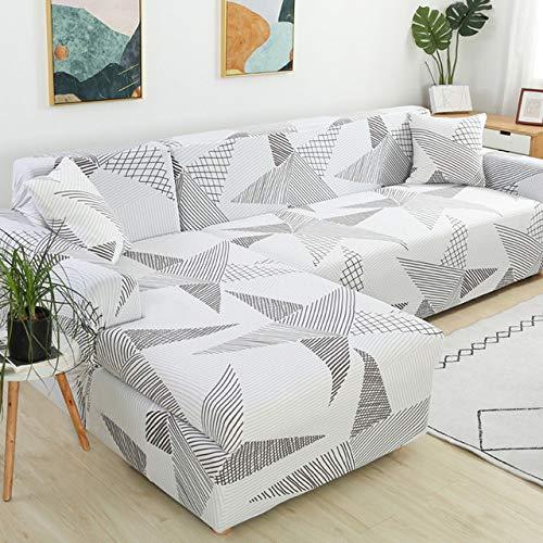 Funda Elástica De Sofá Funda Estampada Para Sofá Antideslizante Protector Cubierta De Muebles,Color5-1~seat(90~140cm)