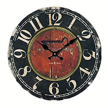 Eruner 14-inch Vintage LargeHotel Du Monde Decorative Wall Clock  C-20