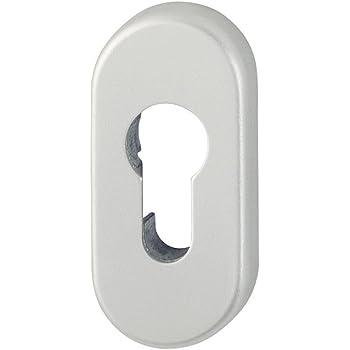 Zylinderschutz oval 7mm Edelstahl VA Rostf SN-TEC Schutzrosette//Schieberosette
